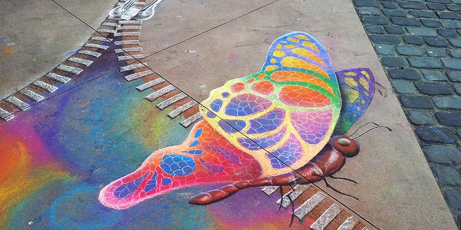 Streetart in lieu of the Gay Games
