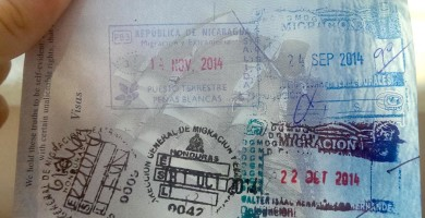 Central America Passport Stamps