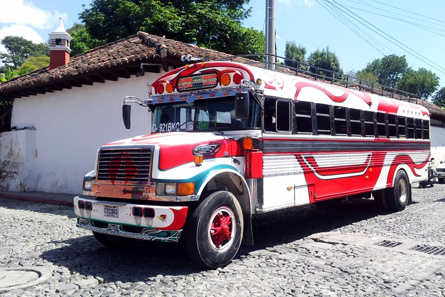 Chickenbuses - The cheapest way to get around Guatemala