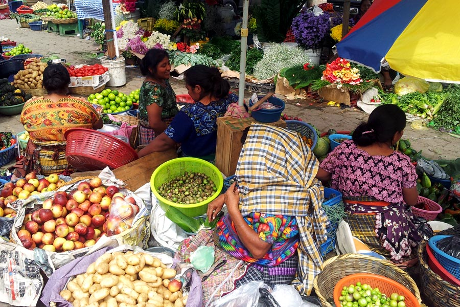 Market day in Antigua Guatemala
