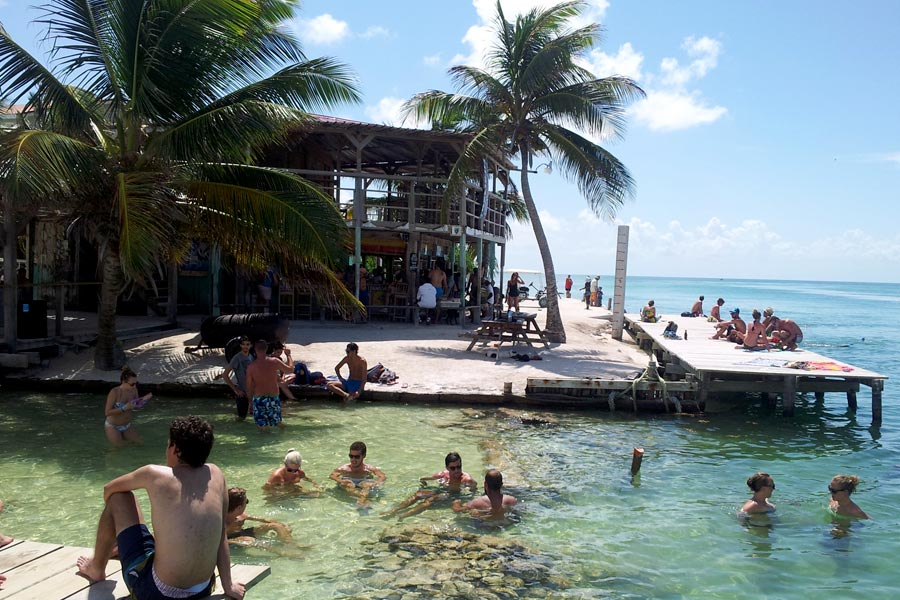 The Split, a popular hangout spot for tourists and locals alike.