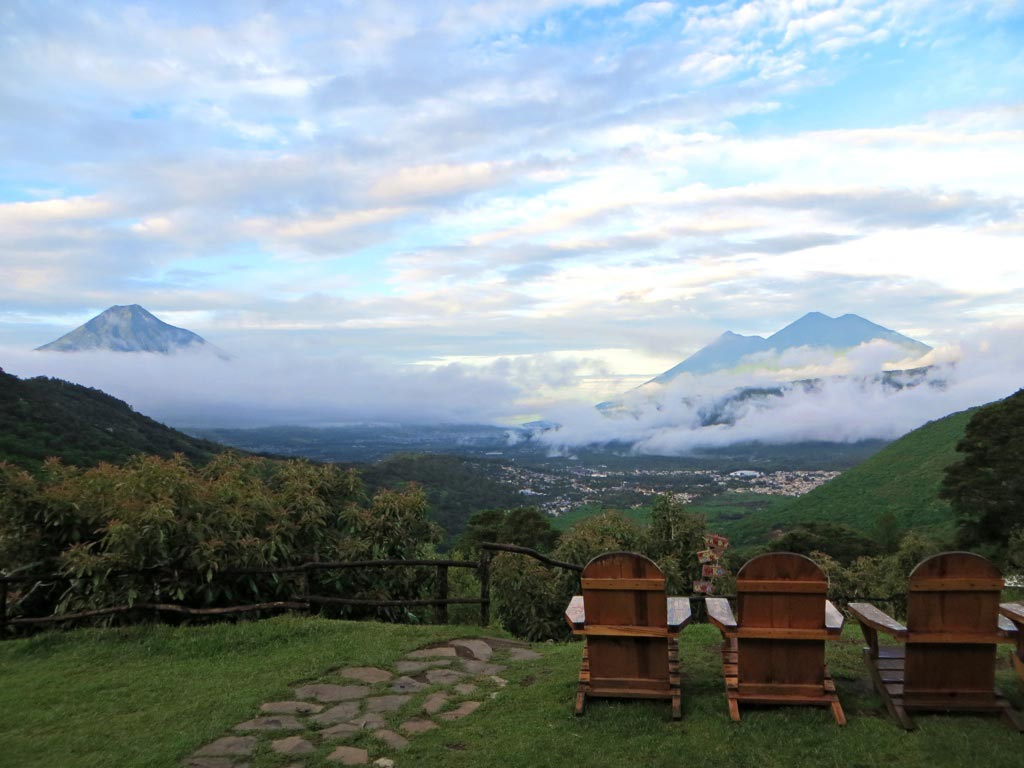 View from the Earth Lodge in Guatemala