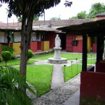 Court Yard of a Spanish School in Guatemala