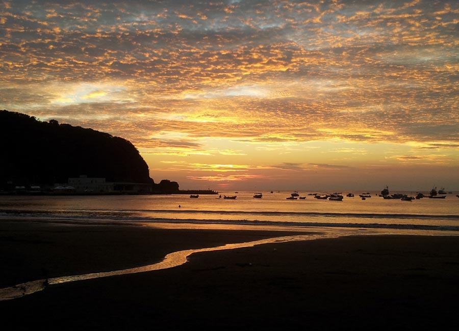 Sunset over San Juan Del Sur in Nicaragua