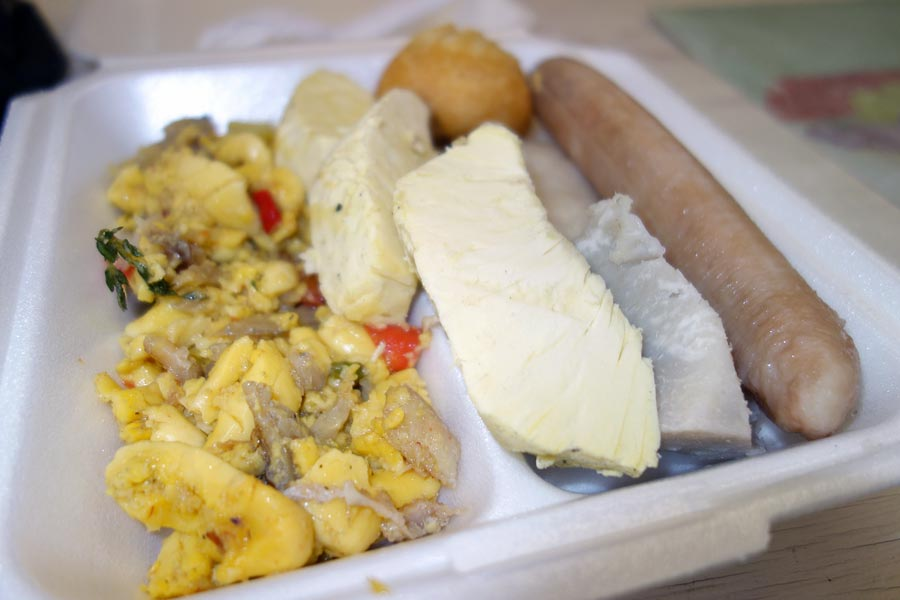Typical Jamaican Breakfast: Ackee and Saltfish