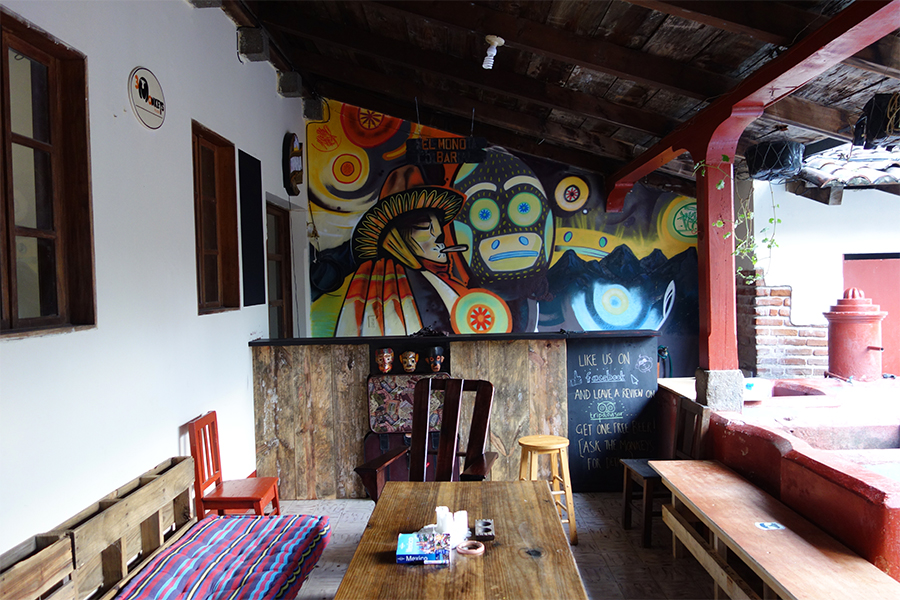 Chill out lounge at Three Monkeys Hostel