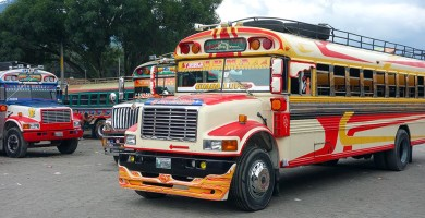 Chickenbus in Guatemala