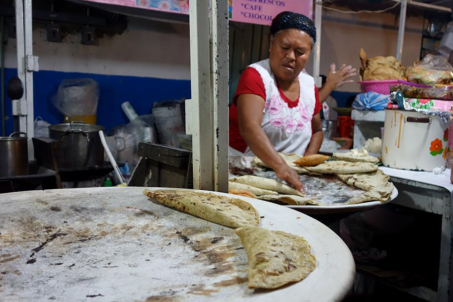 empanadas are sold everywhere in oaxaca