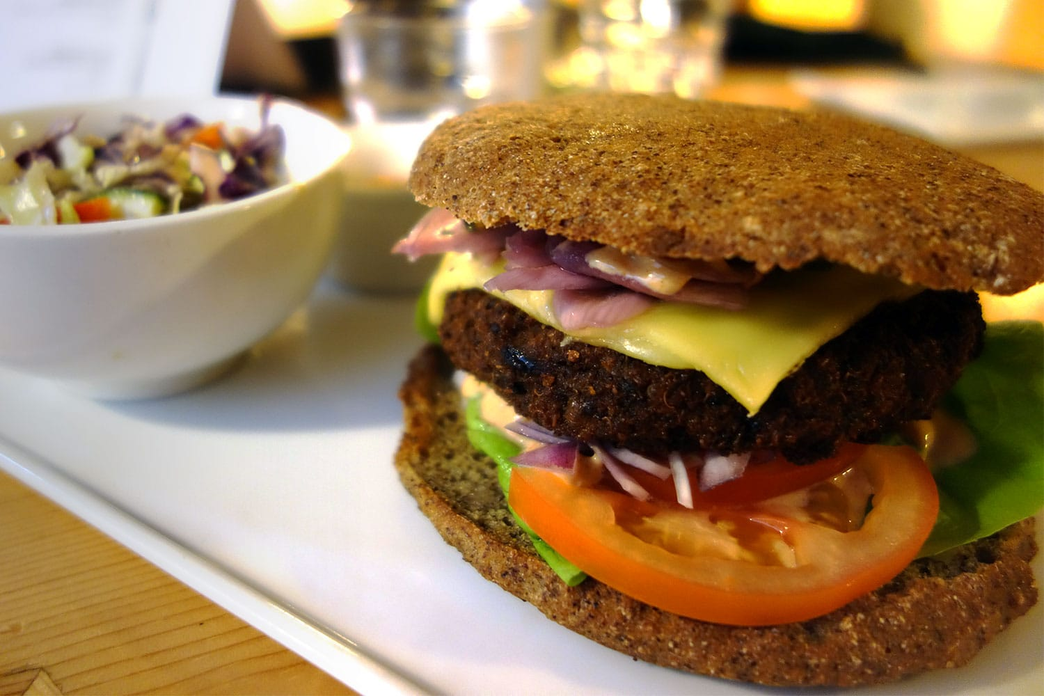 Gluten Free Paleo Burger from simpleRaw in Copenhagen