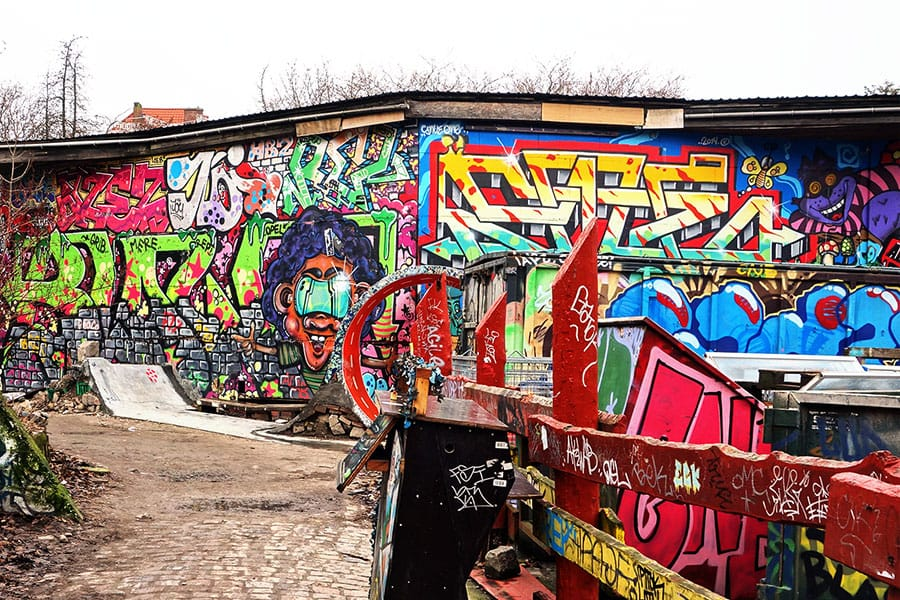 Graffiti at Freetown Christiania in Copenhagen