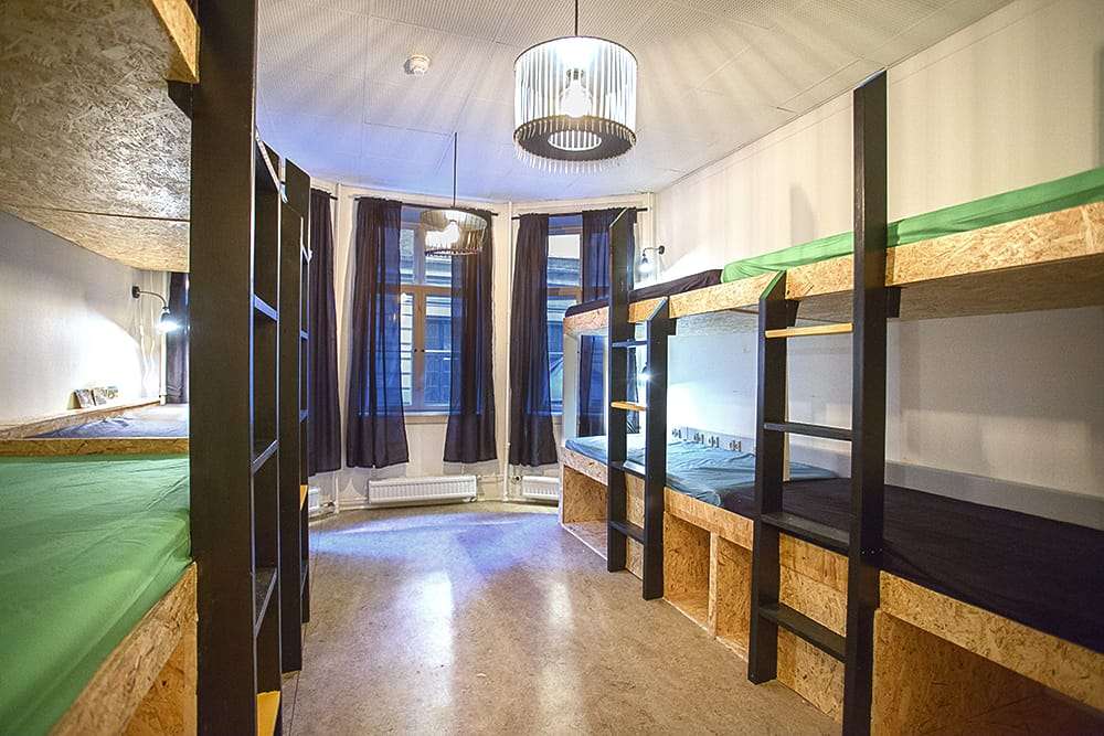 One of the dorms at Globalhagen Hostel. Image Courtesy of Globalhagen Hostel.