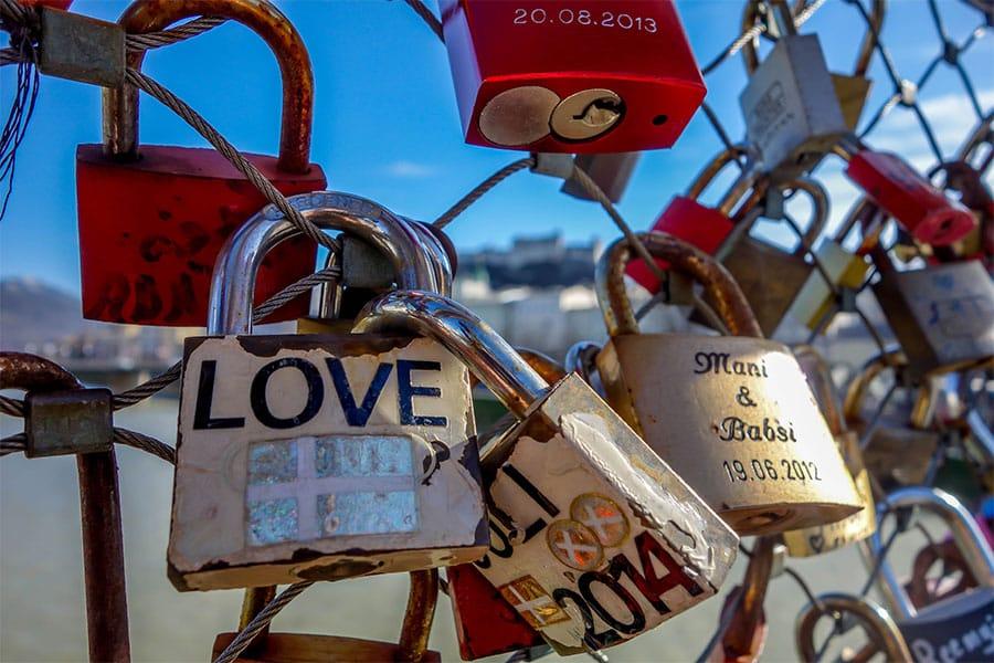 Locks Makartsteg - Things to do in Salzburg