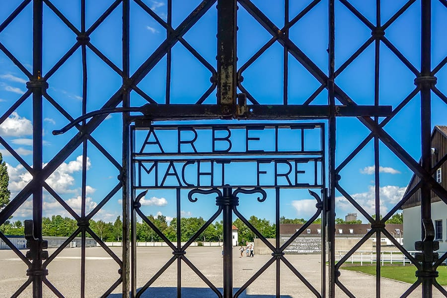 Dachau Concentration Camp near Munich is an easy day trip from Salzburg