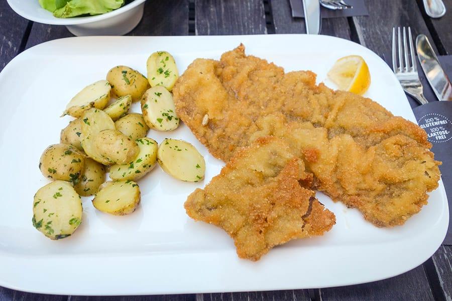 Gluten Free Wiener Schnitzel from Zum Wohl in Vienna