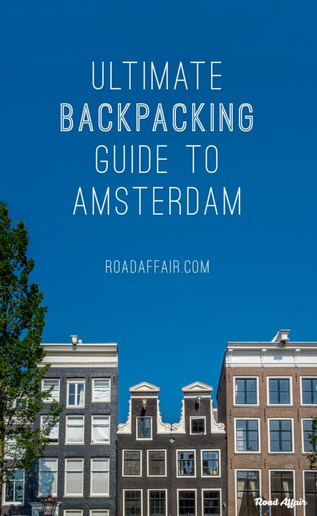 Backpacking Amsterdam on a Budget Pinterest Pin