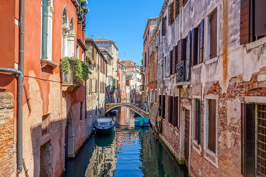 Canal system in Venice