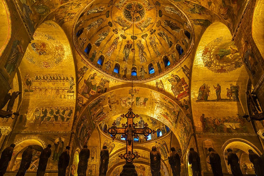 Alone in the St. Marks Basilica