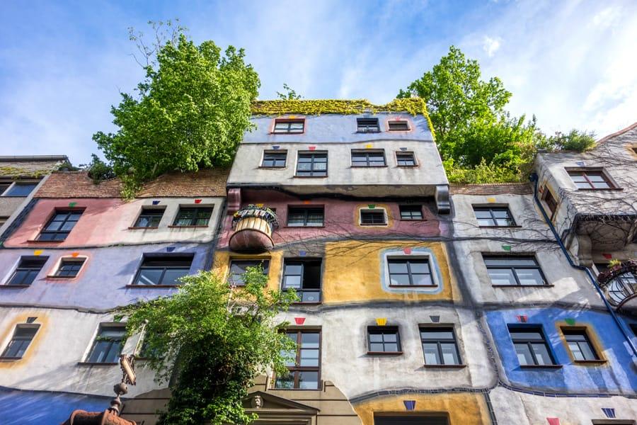 Hundertwasser Haus in Vienna Austria