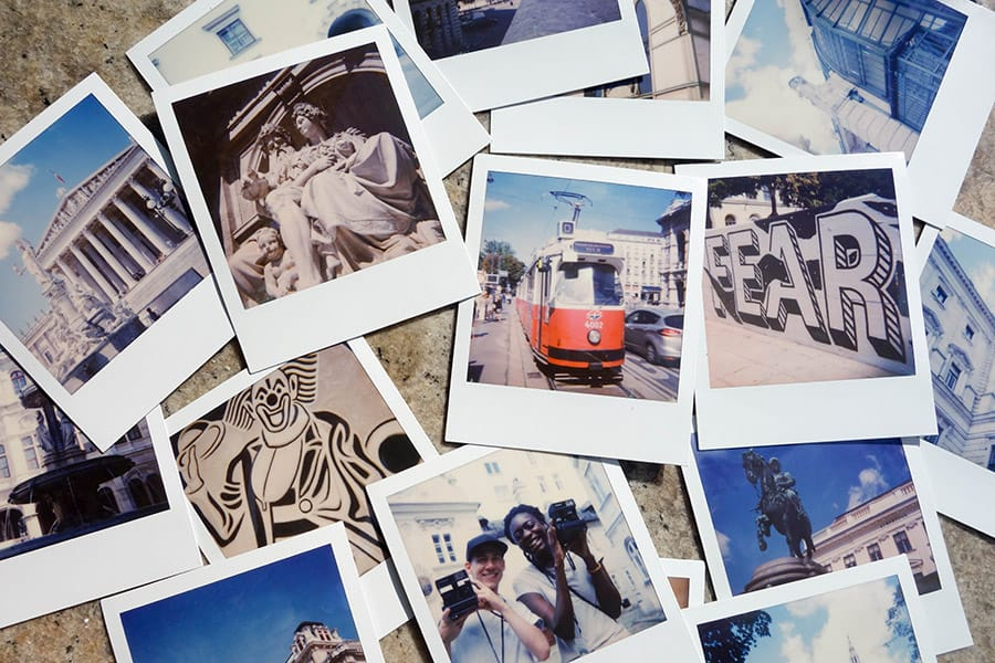 Polaroids from our PolaWalk Tour in Vienna