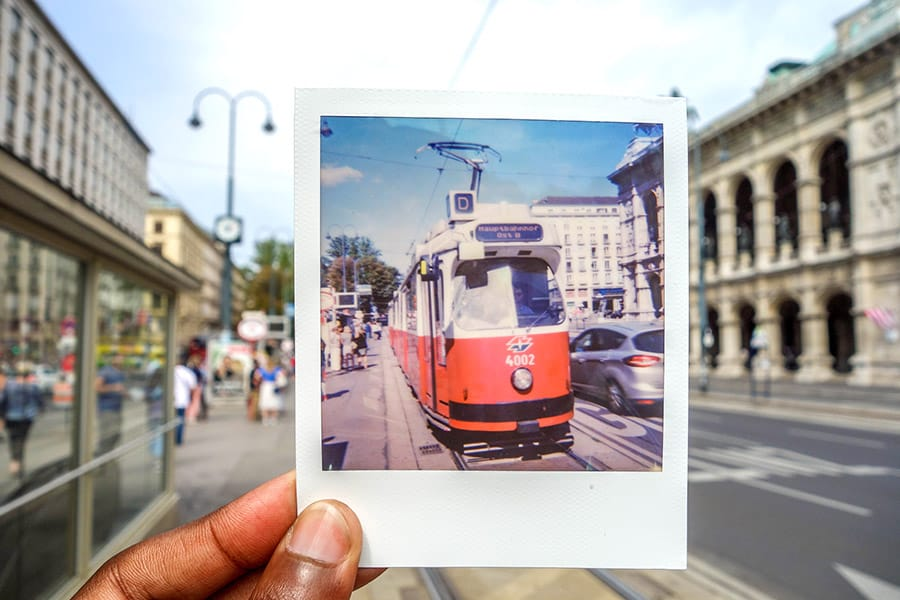 Vintage Trains on the Streets of Vienna - Backpacking Vienna on a Budget