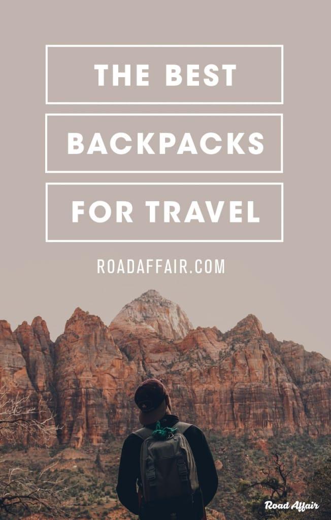 Best Travel Backpack Pinterest Pin