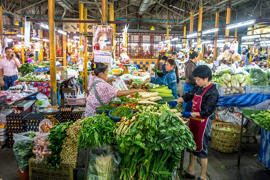 Mama Noi Thai Cookery School: Local Market in Chiang Mai