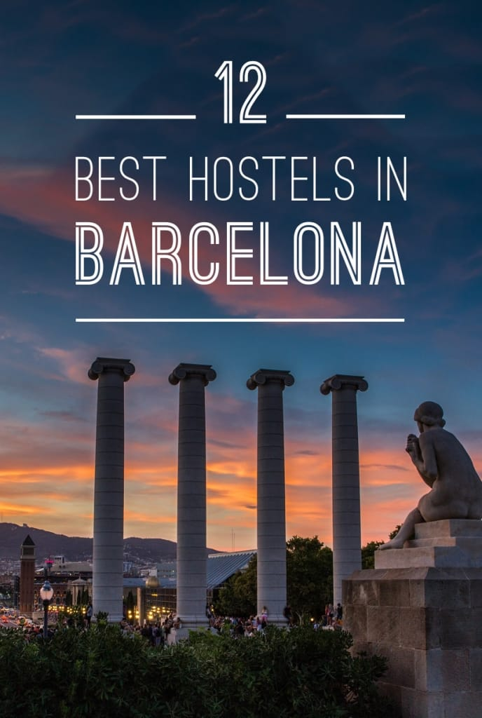 Best Hostels in Barcelona Pinterest Pin