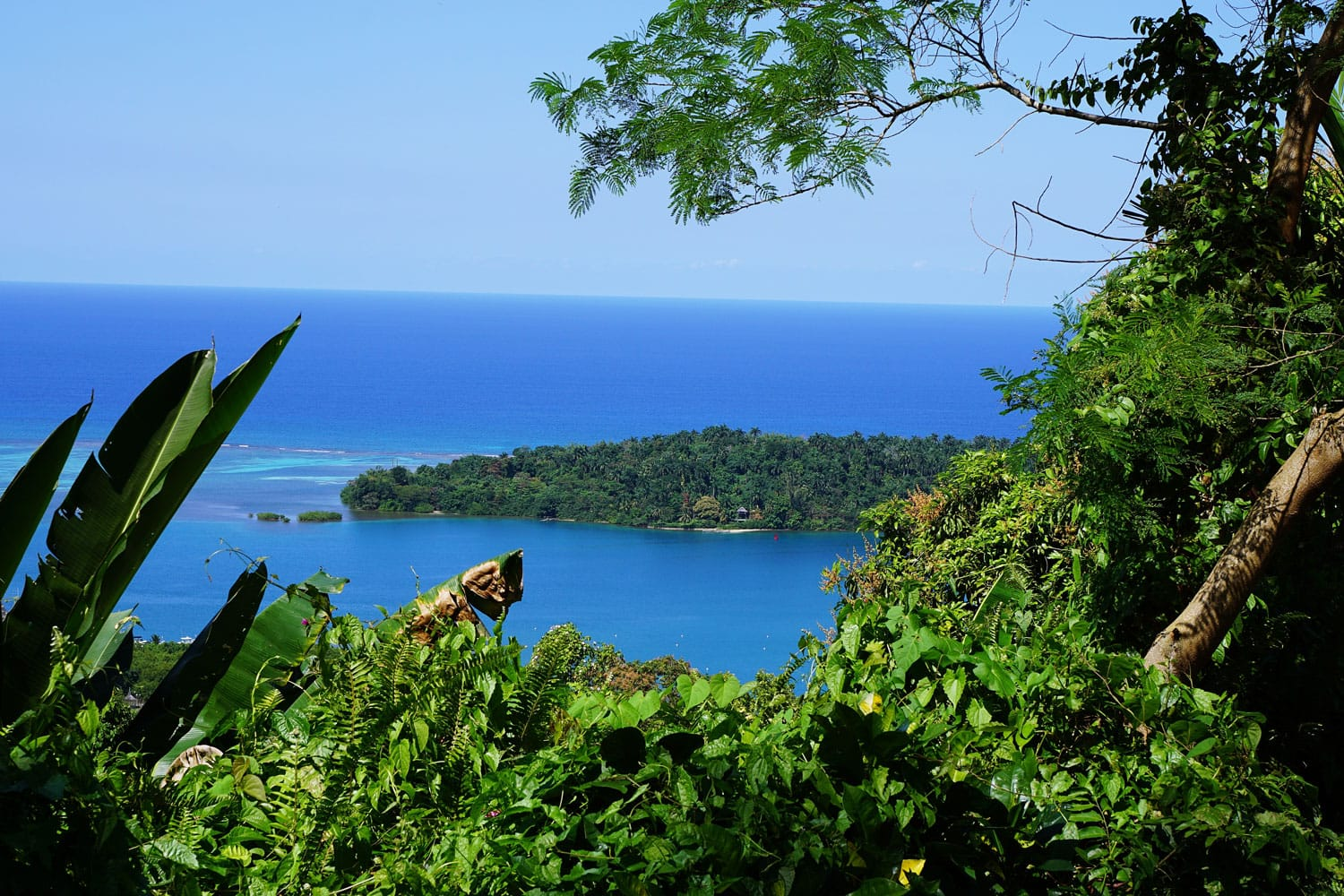 View of Navy Island in Jamaica
