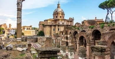 The Roman Forum in Rome