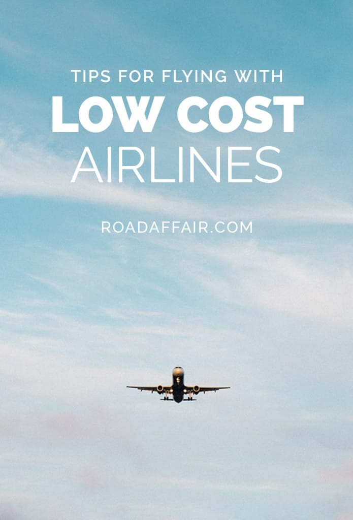 Tips for Flying Budget Airlines Pinterest Pin