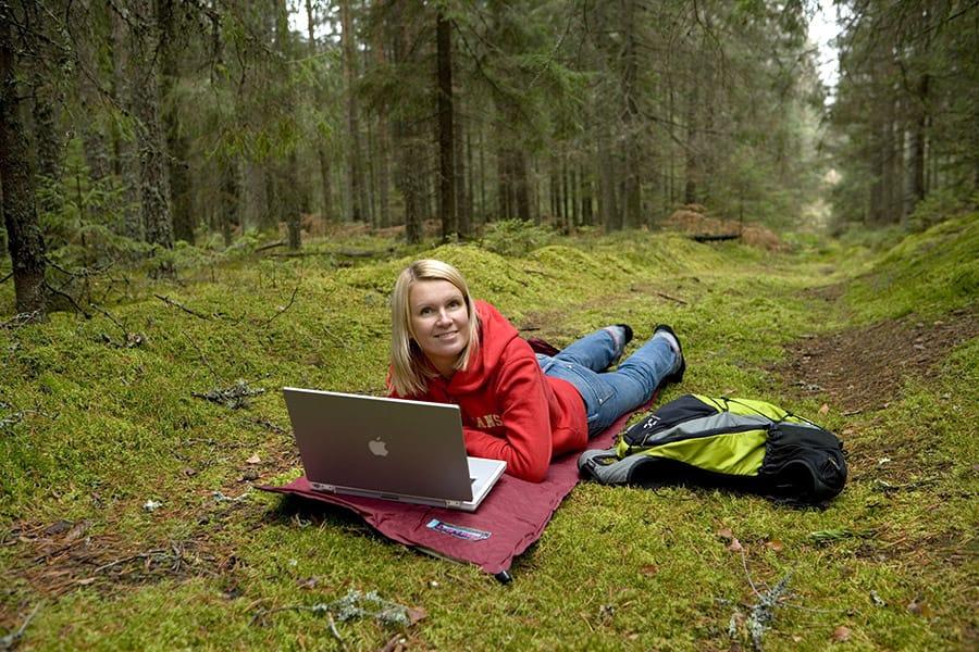 Internet in the forest in Estonia