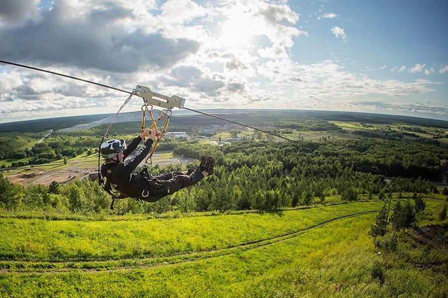 Zip-line in Kiviõli Adventure Centre