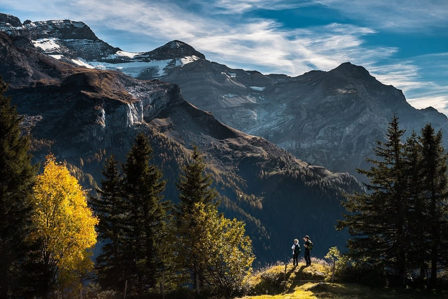 Hiking the mountains in Europe