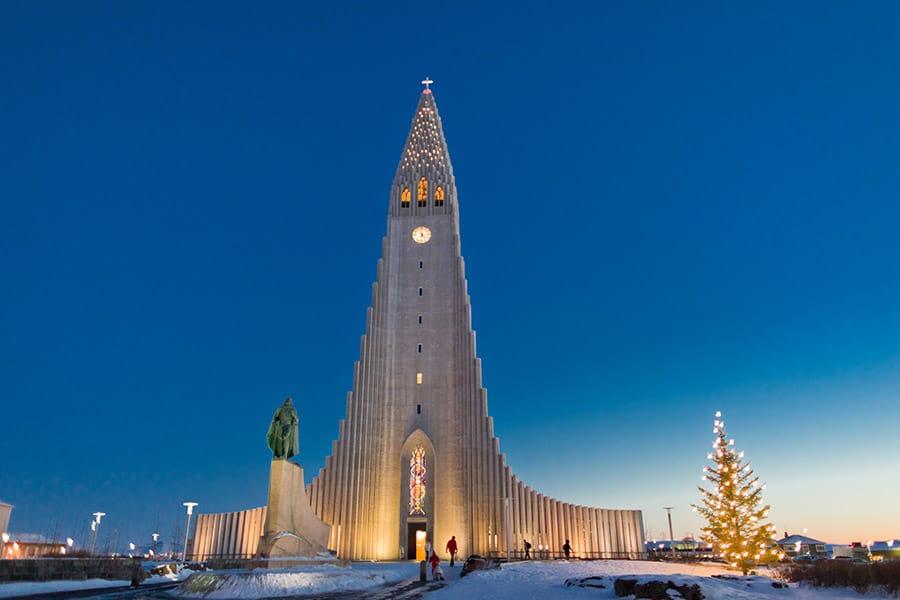 Hallgrímskirkja church in Iceland
