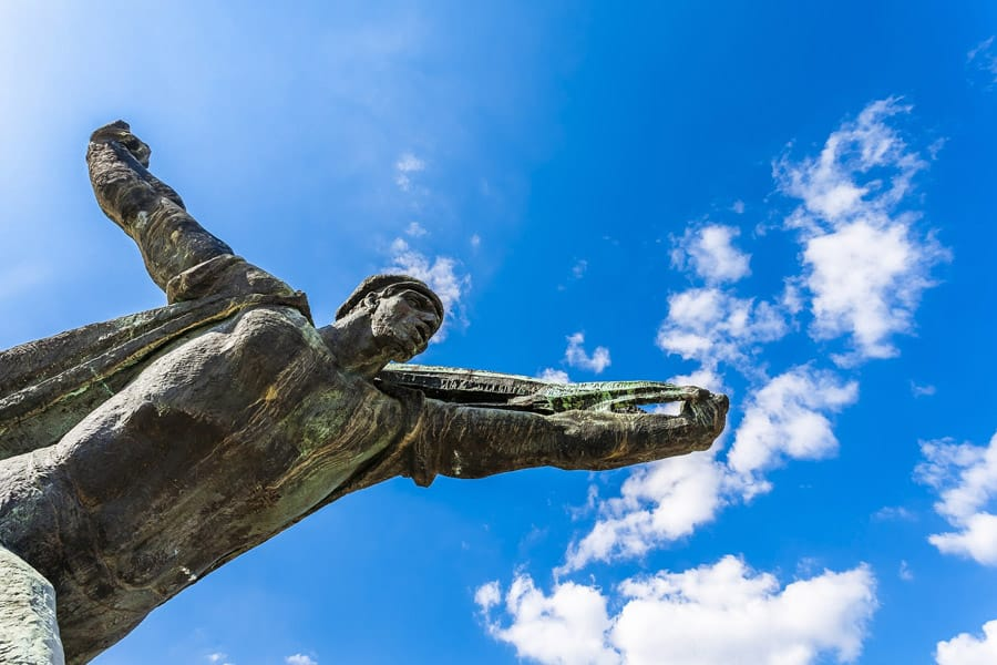 Statue in Memento Park in Budapest