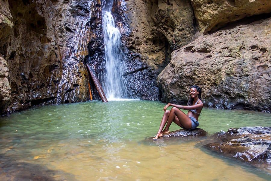 Pam Bok Waterfall in Pai Thailand