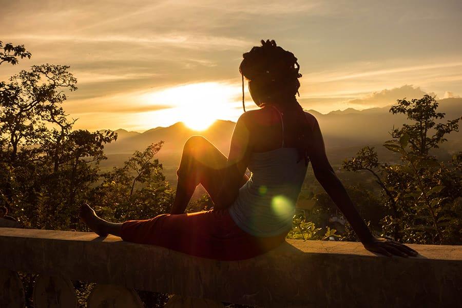 Sunset over Pai Thailand
