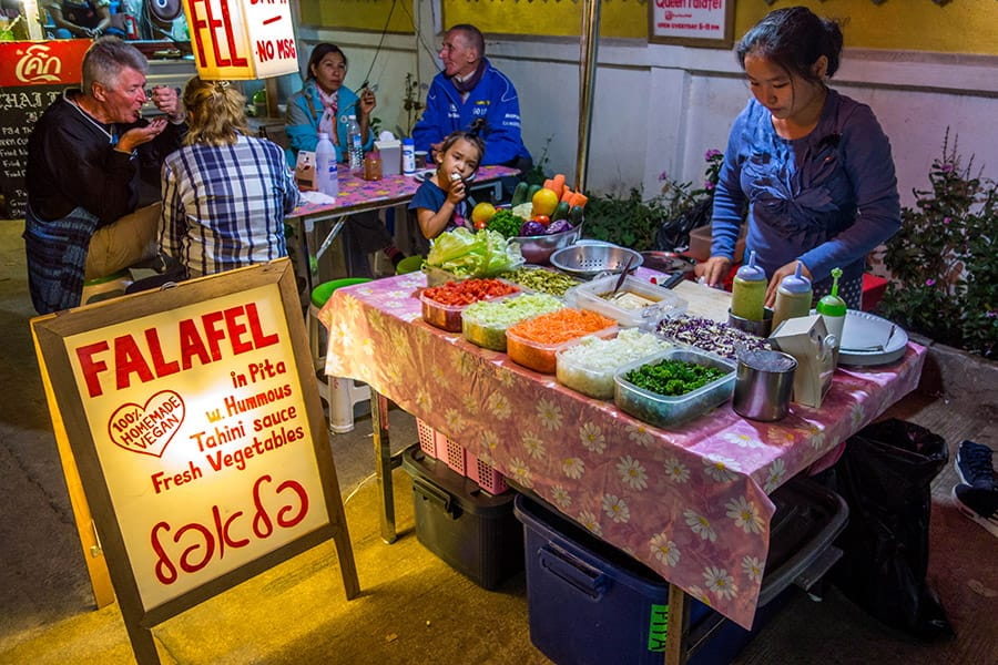 Falafel stand on Pai's Walking Street