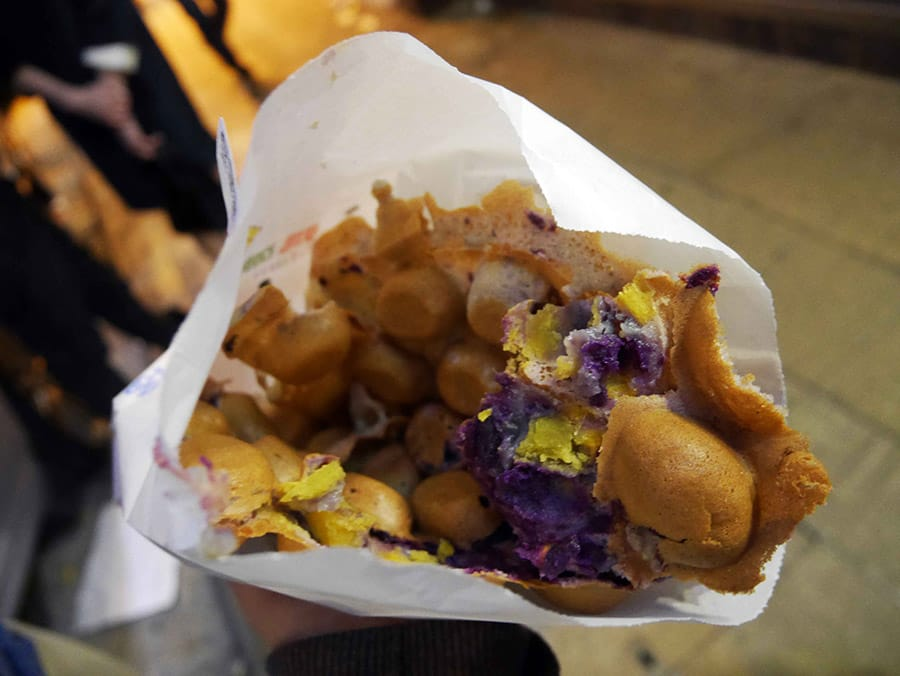 Egg waffle from Hong Kong
