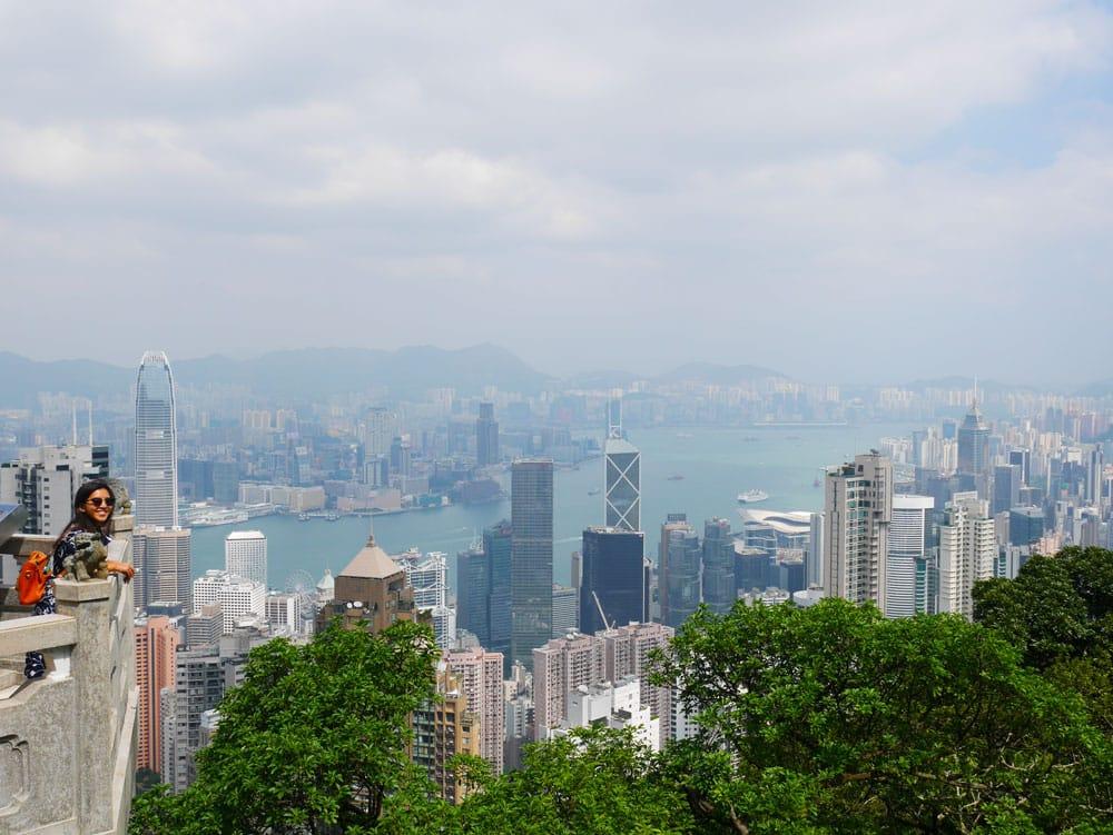 The peak in Hong Kong