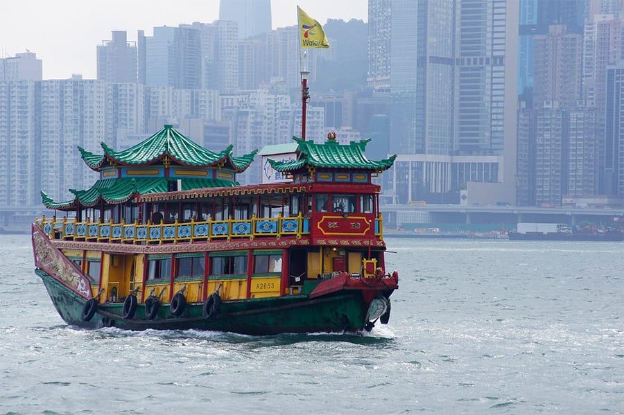 Watertaxi in Hong Kong