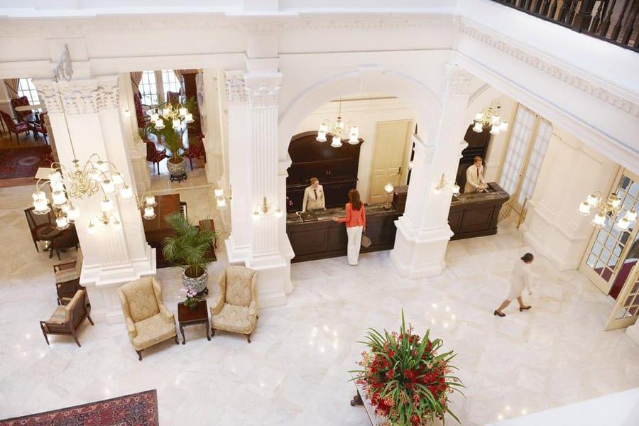 Lobby at Raffles Hotel. Image Credit: © Raffles Hotel Singapore