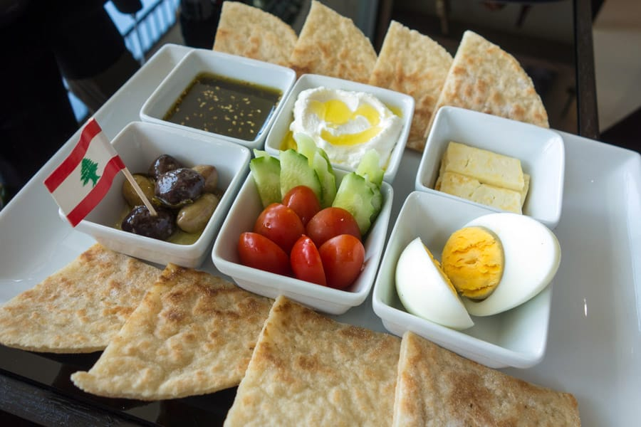 gluten free lebanese breakfast from Bake Free in Phuket Thailand