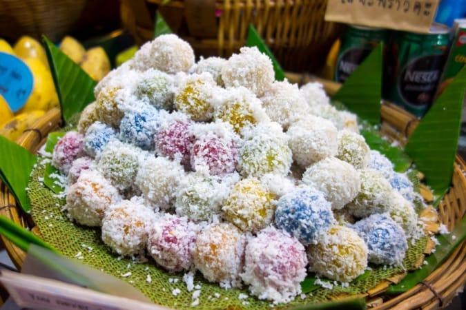 Gluten free rice balls in Thailand