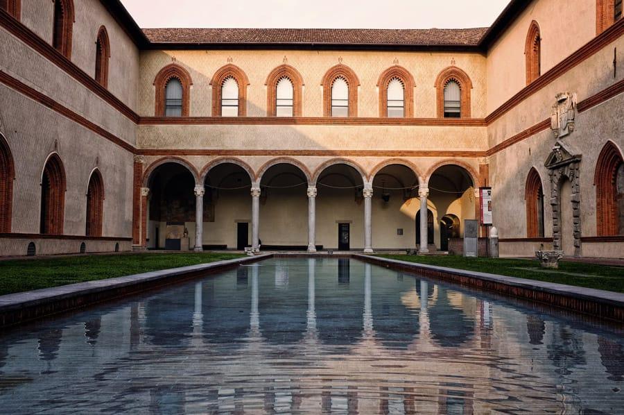 Castello Sforzesco in Milan Italy