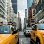 Taxi cabs in New York City