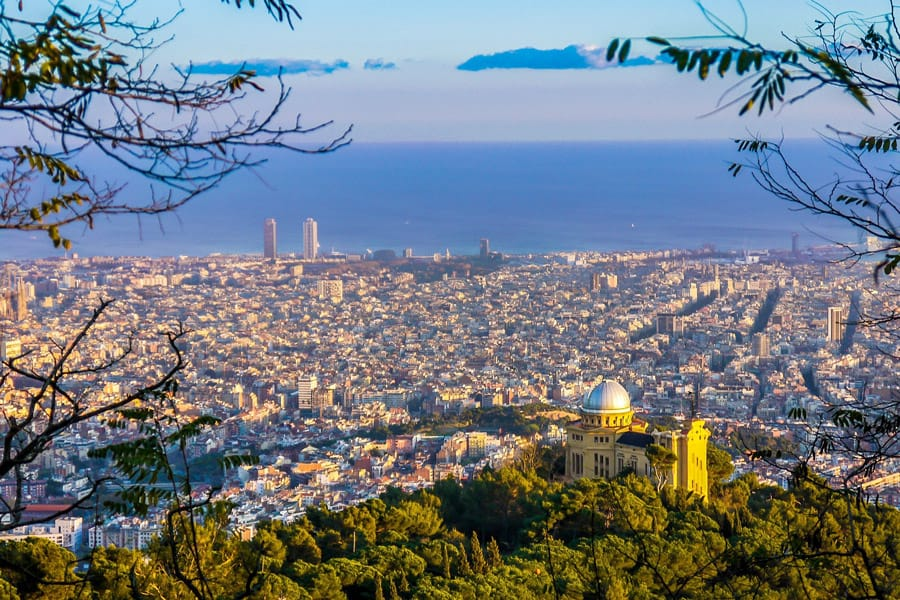 View over Barcelona from Collserolla