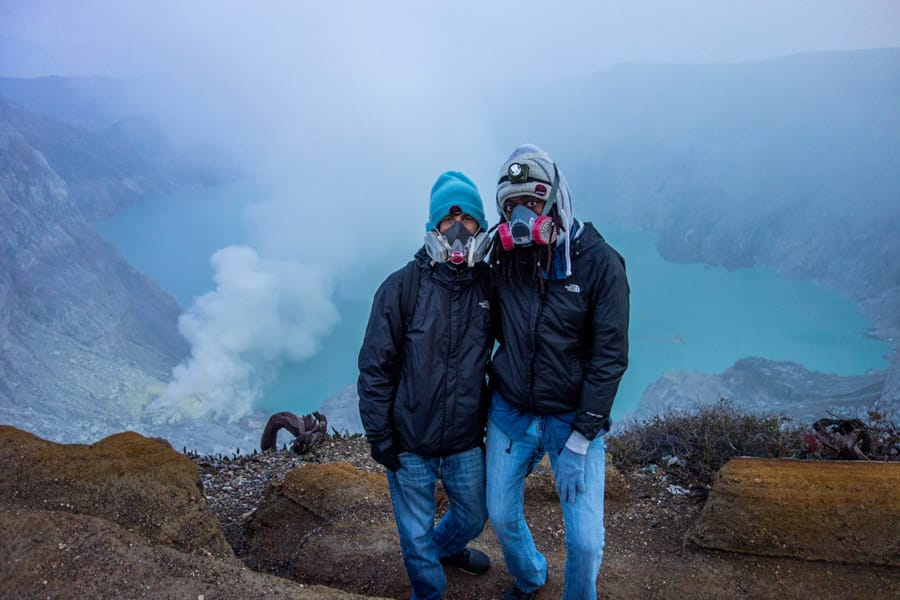 Ben & Jazzy on top of Mount Ijen