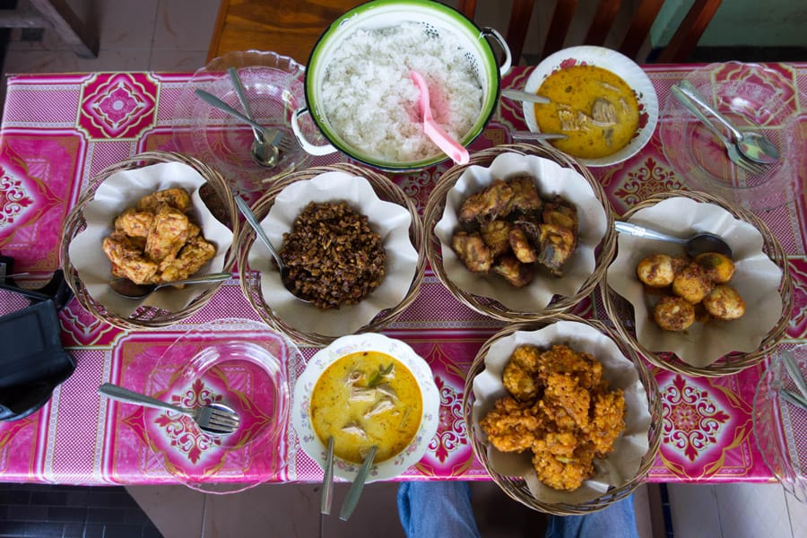 Javanese breakfast after hiking Mount Ijen