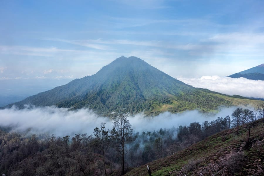 Volcano view from Mount Ijen